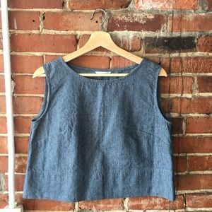 """Linenfox retired style """"crop top"""" small"""